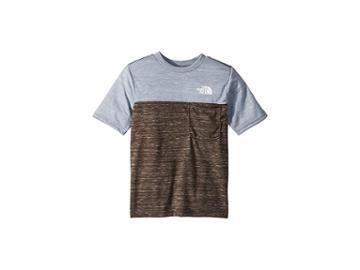 The North Face Kids Short Sleeve Pocket Tee (little Kids/big Kids) (new Taupe Green Heather) Boy's T Shirt