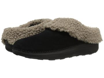 Fitflop Loaff Snug Slipper (black) Women's Slippers