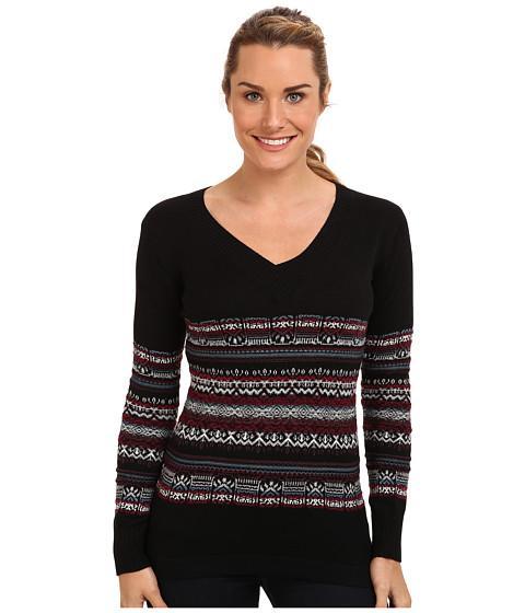 Exofficio Cafenista Jacquard Sweater (black) Women's Sweater