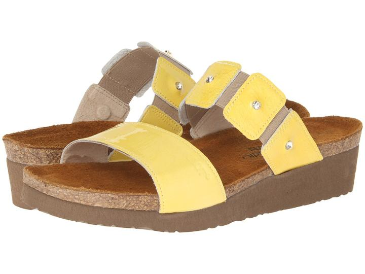Naot Ashley (yellow Patent Leather) Women's Sandals