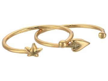Rebecca Minkoff Baby Heart + Star U-rings (gold) Ring