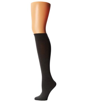 Wolford Cotton Velvet Knee-highs (anthracite/mele) Women's Knee High Socks Shoes