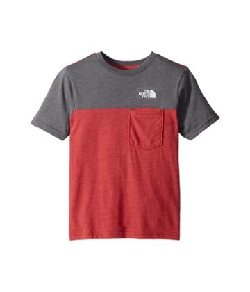 The North Face Kids Tri-blend Pocket Tee (little Kids/big Kids) (tnf Red Heather/tnf Medium Grey Heather/tnf White) Boy's T Shirt