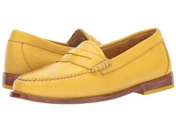 G.h. Bass & Co. Whitney Weejuns (mustard Soft Tumbled Leather) Women's Shoes