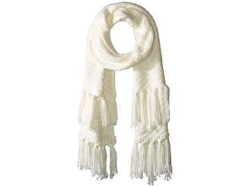 Rebecca Minkoff Chunky Zigzag Muffler (ivory) Scarves