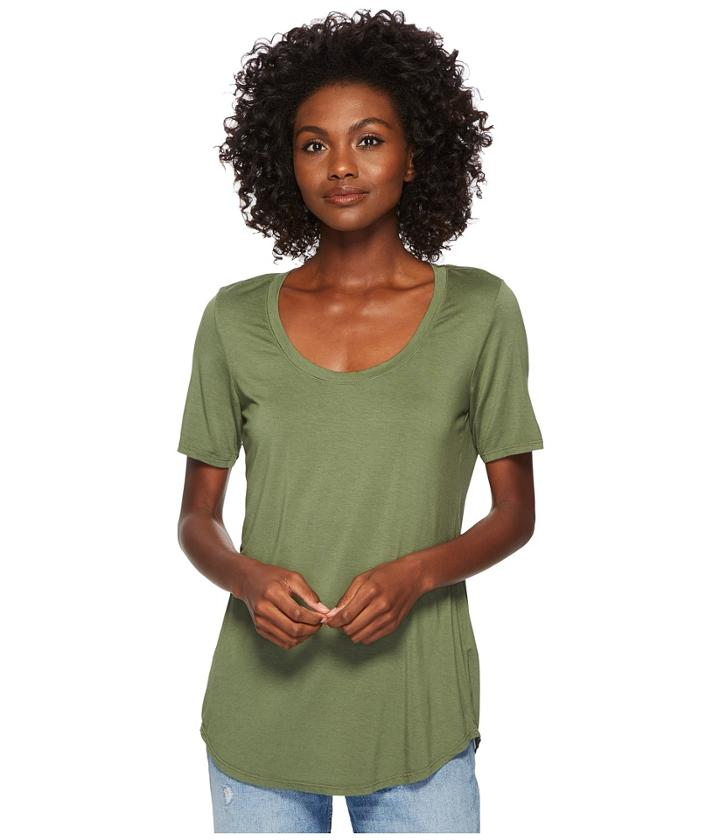 Three Dots Evelyn Tee Tunic (meadow) Women's Short Sleeve Pullover