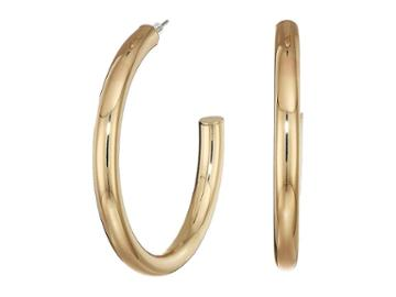 Guess Large Iridescent Hoop Earrings (gold) Earring
