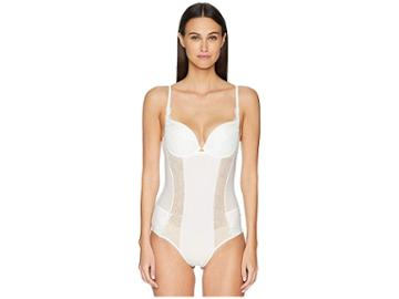 La Perla Citrine Padded Bodysuit (off-white) Women's Jumpsuit & Rompers One Piece
