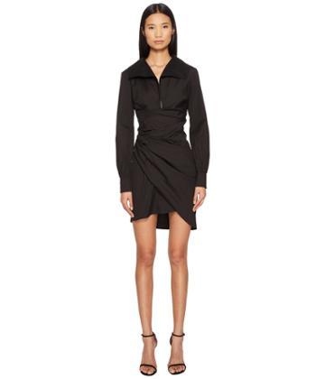 La Perla Cotton Shirt Dress (black) Women's Dress