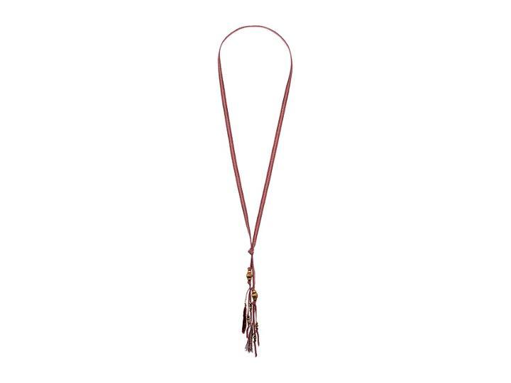 Chan Luu Ribbon Necklace (mauve) Necklace