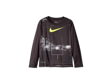 Nike Kids Friday Night Lights Dri-fit Long Sleeve Tee (little Kids) (volt/black) Boy's Clothing