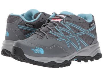 The North Face Kids Jr Hedgehog Hiker Wp (little Kid/big Kid) (zinc Grey/blizzard Blue) Girls Shoes