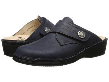 Finn Comfort Santa Fe-s (navy Africa) Women's Clog Shoes