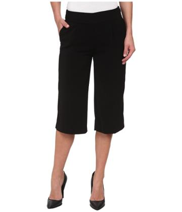 Dknyc Tech Crepe And Washed Wide Leg Crop Tech Crerepants (black) Women's Casual Pants