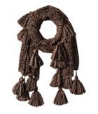 Bindya Tassel Scarf (brown) Scarves