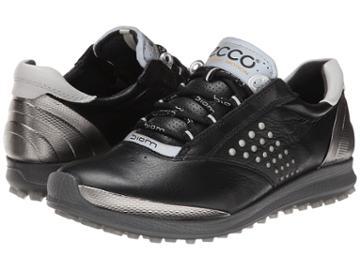 Ecco Golf Biom Hybrid 2 (black/buffed Silver) Women's Golf Shoes