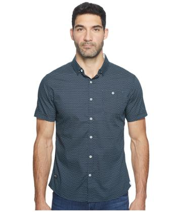 7 Diamonds Colossus Short Sleeve Shirt (slate) Men's Short Sleeve Button Up
