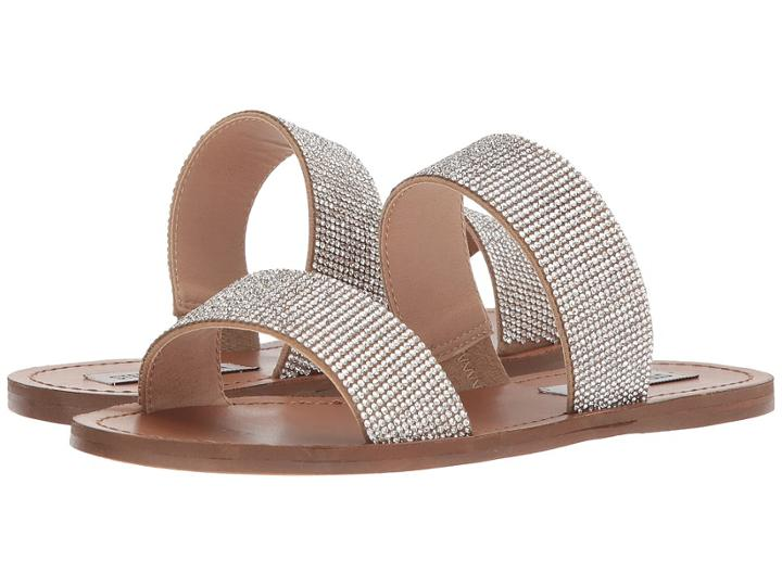 Steve Madden Rage Slide Flat Sandal (rhinestone) Women's Sandals