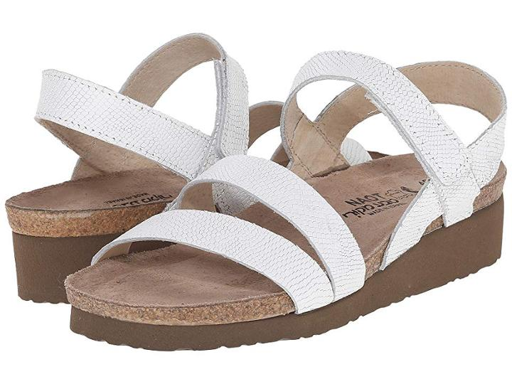 Naot Kayla (white Snake Leather) Women's Sandals