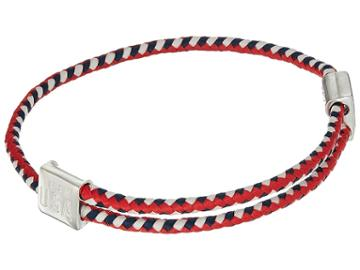 Alex And Ani Hope Rope Red White Blue Bracelet (sterling Silver) Bracelet