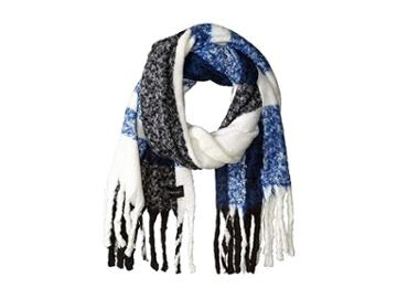 Calvin Klein Chunky Plaid Scarf (adrenaline Blue) Scarves