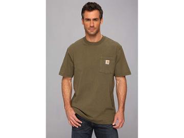 Carhartt Workwear Pocket S/s Tee K87 (army Green) Men's T Shirt