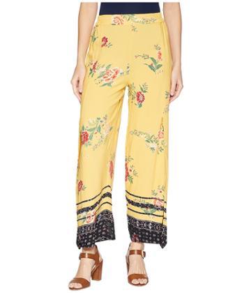 Angie Print Pant (yellow) Women's Casual Pants