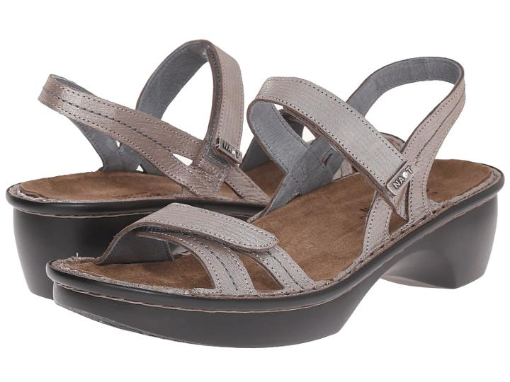 Naot Brussels (silver Threads Leather) Women's Sandals