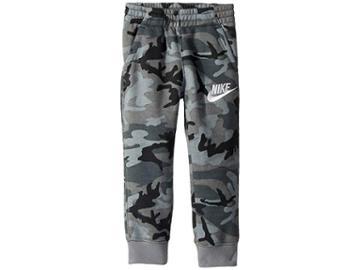 Nike Kids Club Fleece All Over Print Pants (toddler) (black) Boy's Casual Pants