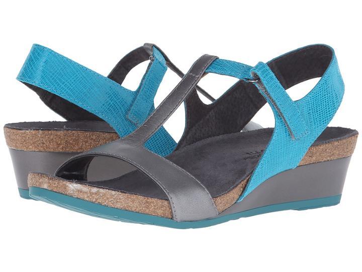 Naot Unicorn (aquamarine Leather/mirror Leather) Women's Sandals