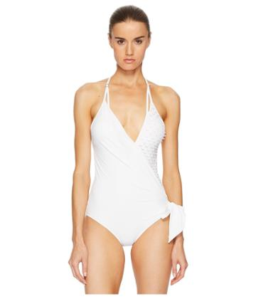 La Perla Onyx Collection Non-wired One-piece (white) Women's Swimsuits One Piece