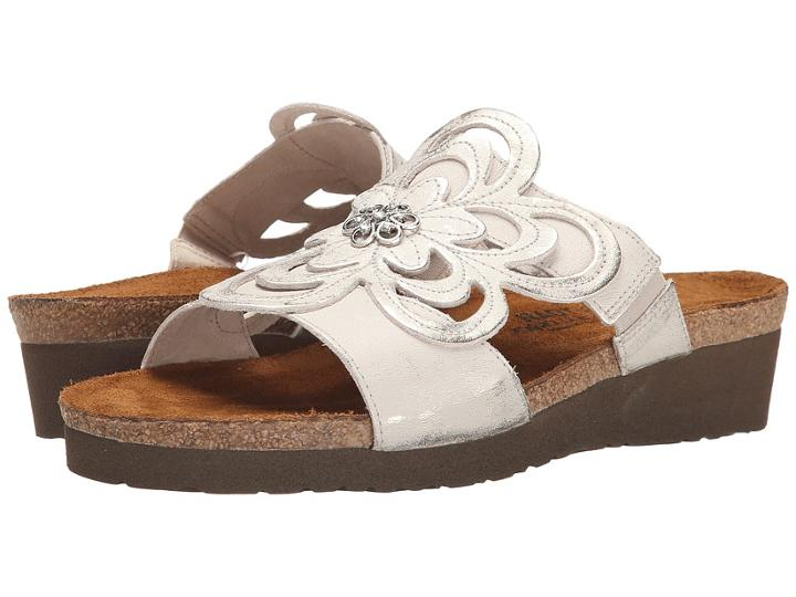 Naot Sandy (dusty Silver Leather) Women's Sandals