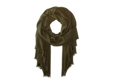 Love Quotes Rayon Eyelash Scarf (pesto) Scarves