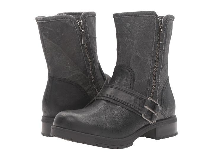 Clarks Faralyn Rise (black Nubuck) Women's  Boots