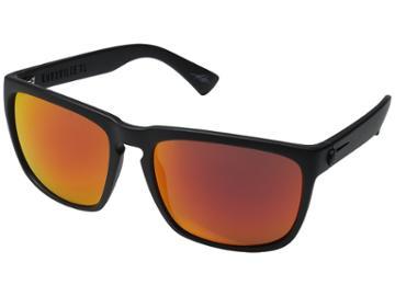 Electric Eyewear Knoxville Xl (matte Black/optical Health Through Melanin Grey Fire Chrome) Fashion Sunglasses