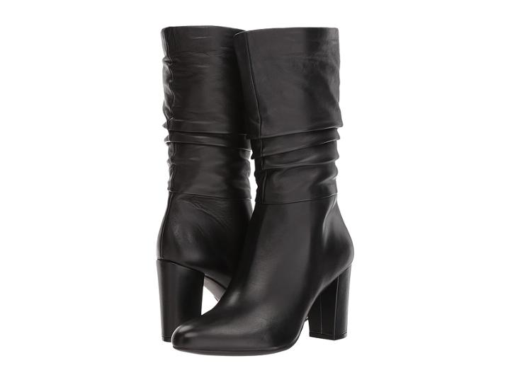 Anne Klein Nysha (black Leather) Women's Pull-on Boots