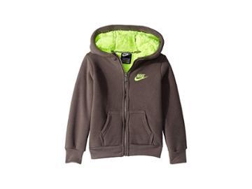 Nike Kids Futura Fleece Sherpa Full Zip (little Kids) (gunsmoke) Boy's Sweatshirt