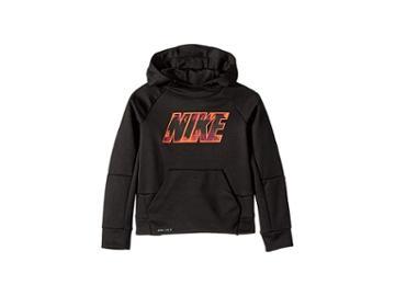 Nike Kids Therma Legacy Aop Hoodie (little Kids) (black) Boy's Sweatshirt