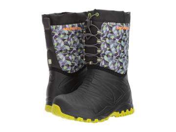 Merrell Kids Snow Quest Lite Waterproof (little Kid) (black/green) Boys Shoes