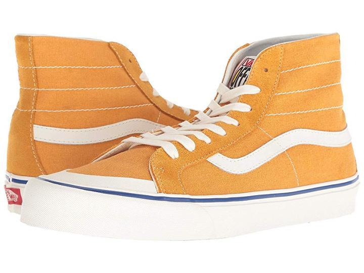 Vans Sk8-hi 138 Decon Sf ((salt Wash) Sunflower/marshmallow) Men's Skate Shoes