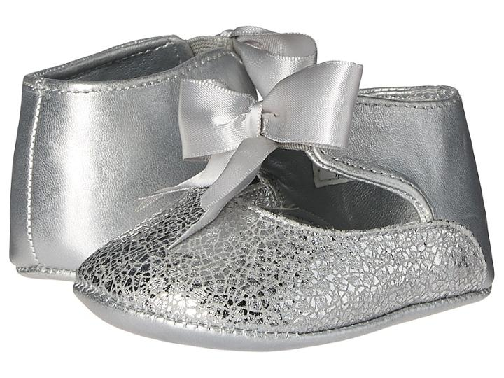 Baby Deer Ribbon Ballet (infant) (silver) Girl's Shoes