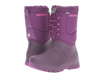 Merrell Kids Snow Quest Lite Waterproof (little Kid) (berry Wpf Synthetic) Girls Shoes