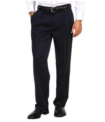Dockers Men's Never-iron Essential Khaki D3 Classic Fit Pleated (navy) Men's Casual Pants