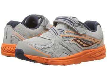 Saucony Kids Ride 9 (toddler/little Kid) (grey/orange) Boys Shoes