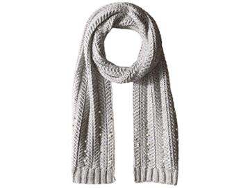 Vince Camuto Chunky Herringbone Stitch Scarf (grey Heather) Scarves