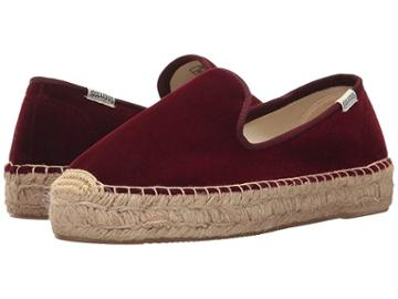 Soludos Velvet Smoking Slipper (wine) Women's Slippers
