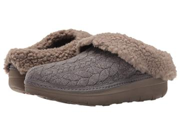 Fitflop Loaff Quilted Slipper (charcoal) Women's Slippers