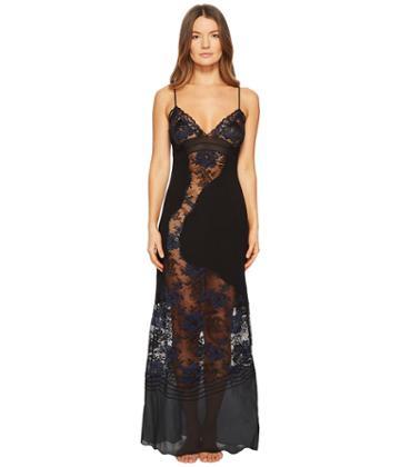 La Perla Desert Rose Night Gown (black) Women's Dress