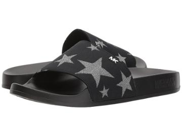 Michael Michael Kors Sia Slide (black/silver) Women's Shoes