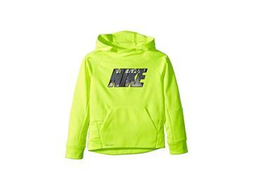 Nike Kids Therma Legacy Aop Hoodie (little Kids) (volt) Boy's Sweatshirt